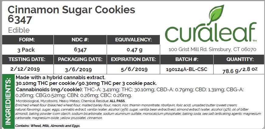 cin sugar cookie