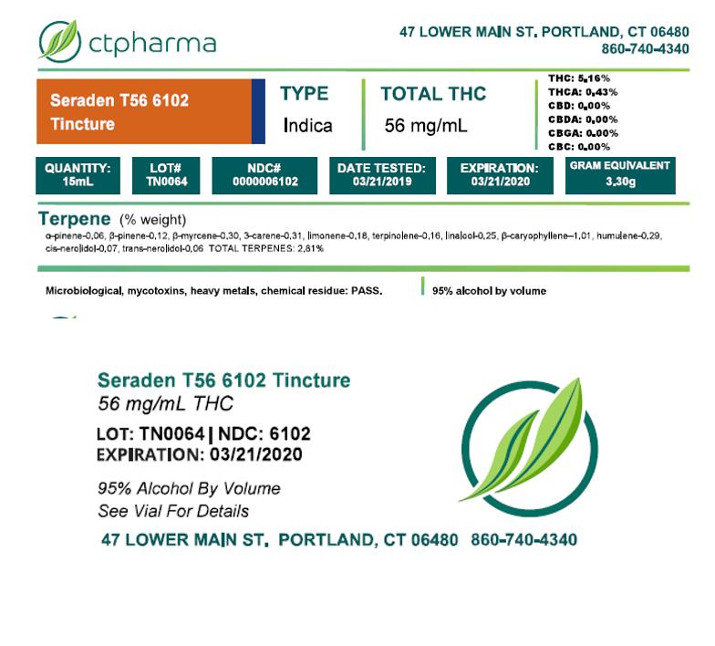 Seraden T56 6102 Tincture LotTN0064 NDC6102-label for reg
