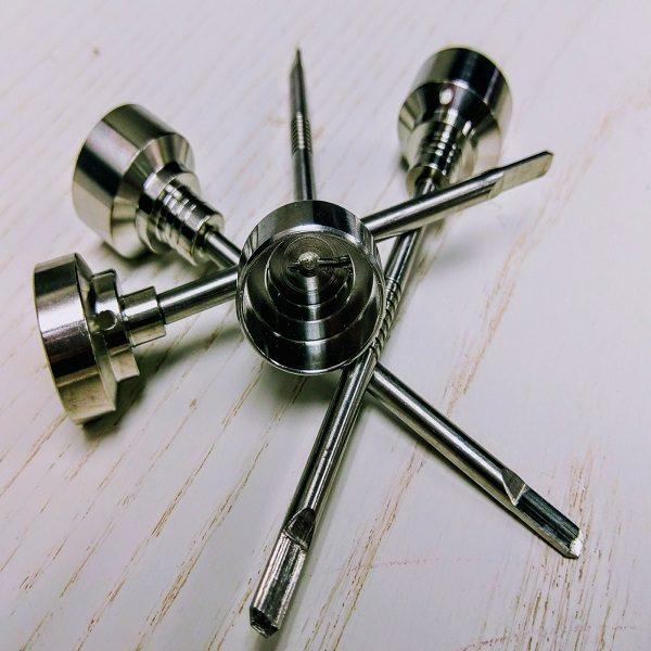 Titanium Carb Cap w/Dabber Tool