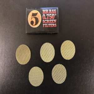 Pipe Screens - Brass (5pk) 0.750""