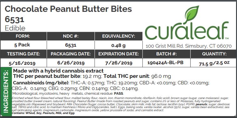 choc peanut butter bites