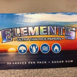 "Elements Rice Paper 1 1/2"" Rolling Papers"