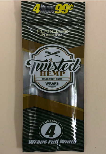 Twisted Hemp Wraps 4pk - Plain Jane Natural